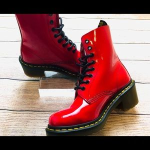 Dr. Marten Clemency's - shiny red